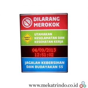 Papan Informasi Digital - Lampu Led - Running Text - Mekatrindo